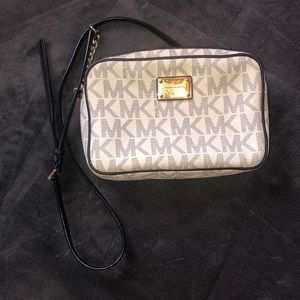 Michael Kors White Logo Crossbody
